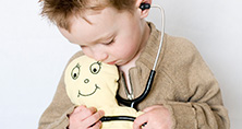 child with stethoscope